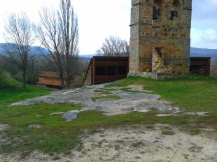 Necropolis and church tower, Santa Maria de Valverde