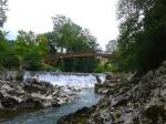 Wooden Bridge over the Pas & Weir