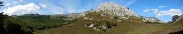 Panorama of the glacial cirque