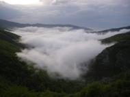 Saja valley from the Balcón de la Cardosa