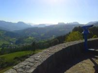Viewpoint at the Santuario de la Bien Aparecida, lower Asón valley