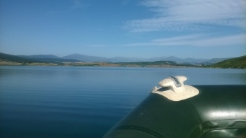 Boating on the Ebro Reservoir