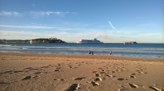 Brittany Ferries between Somo beach and the Magdalena Peninsula
