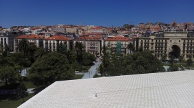 Jardines de Pereda and Santander from the Centro Botín viewing deck