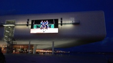 Outdoor cinema at the Centro Botín on Santander seafront