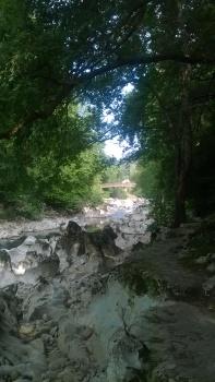 Fisherman's pathe along the River Pas, Puente Viesgo