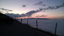 Sunset over the Picos de Europa from the Fuente del Chivo viewpoint, Alto Campoo