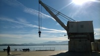 Stone crane, Santander seafront