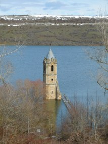 Las Rozas church tower, Ebro Reservoir