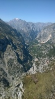 Hermida gorge from the Santa Catalina viewpoint