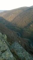 Views down over the N611 - Las Hoces de Barcena, Pesquera
