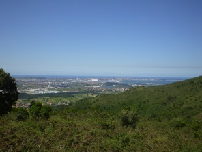 Santander seen from the top viewpoint in Cabárceno park