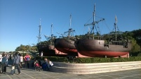 Boats on the Magdalena Peninsula