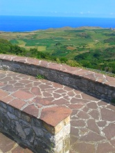 Overlooking the coast from the Ubiarco viewpoint