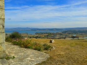 Overlooking the Ebro Reservoir from the Ermita Virgen de las Nieves, Monegro, Campoo valley