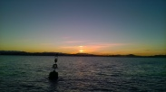 Sunset over the mountains from Santander bay