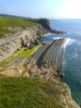 Rock ledges, Playa Pedruquios, Liencres