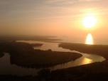 Pas estuary at sunset from La Picota