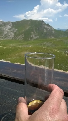 Drinks at the Refugio de Aliva terrace